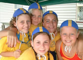 Junior Lifeguards having fun